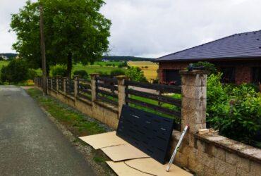 demontáž plotu